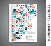 abstract modern template book... | Shutterstock .eps vector #411278188