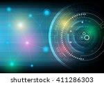 abstract futuristic technology  ... | Shutterstock .eps vector #411286303