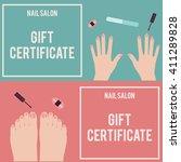nail salon gift certificate.... | Shutterstock .eps vector #411289828