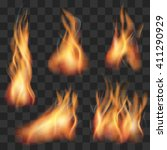 vector realistic transparent... | Shutterstock .eps vector #411290929