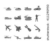 army  military vector icons set.... | Shutterstock .eps vector #411290950