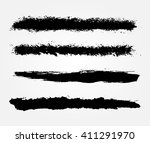 grunge brush strokes.vector... | Shutterstock .eps vector #411291970