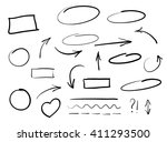 arrows circles and abstract... | Shutterstock . vector #411293500