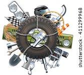vector rally concept | Shutterstock .eps vector #411299968