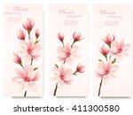 three nature flower magnolia...
