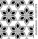 vector pattern. monochrome... | Shutterstock .eps vector #411307378