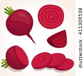 vector beets isolated on...