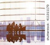 business people meeting... | Shutterstock . vector #411311170