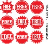 free download red label. free... | Shutterstock .eps vector #411311908
