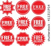 free delivery signs set  free... | Shutterstock .eps vector #411311914