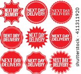 next day delivery signs set ... | Shutterstock .eps vector #411311920