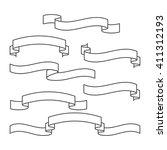 ribbons set. vector | Shutterstock .eps vector #411312193