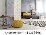light interior with white ...   Shutterstock . vector #411313546