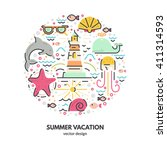 modern vector illustration with ... | Shutterstock .eps vector #411314593