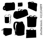 vector bags. black silhouette... | Shutterstock .eps vector #411314899