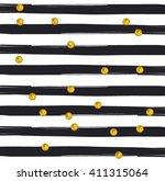 gold glittering confetti... | Shutterstock .eps vector #411315064