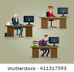 vector detailed character... | Shutterstock .eps vector #411317593