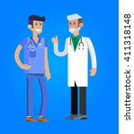 vector detailed doctor... | Shutterstock .eps vector #411318148