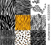 set of abstract hand drawn... | Shutterstock .eps vector #411320554