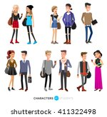 detailed character students ... | Shutterstock .eps vector #411322498