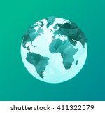 world environment day concept... | Shutterstock .eps vector #411322579