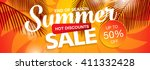 summer sale template banner | Shutterstock .eps vector #411332428