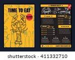 brochure or poster restaurant ... | Shutterstock .eps vector #411332710