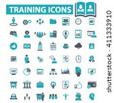 training icons  | Shutterstock .eps vector #411333910