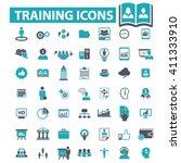 training icons  | Shutterstock .eps vector #411333910