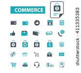 commerce icons  | Shutterstock .eps vector #411335383