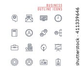 business outline icons | Shutterstock .eps vector #411339646