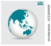 world globe  vector... | Shutterstock .eps vector #411344404