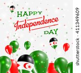 western sahara independence day ... | Shutterstock .eps vector #411349609