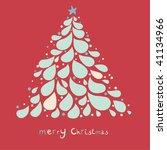 stylish christmas tree | Shutterstock .eps vector #41134966