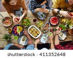 food for friends | Shutterstock . vector #411352648