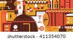 brewery design flat | Shutterstock .eps vector #411354070