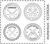 set of original design emblems... | Shutterstock .eps vector #411356266