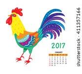 calendar for january 2017...   Shutterstock .eps vector #411357166