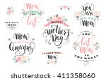 mother's day. vector lettering.