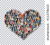 heart people sign 3d | Shutterstock .eps vector #411378610