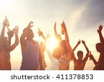 summer beach party freedom... | Shutterstock . vector #411378853