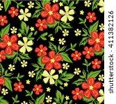 flower pattern   Shutterstock .eps vector #411382126