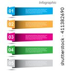 modern design info graphic... | Shutterstock .eps vector #411382690