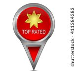 map pointer with top rated | Shutterstock . vector #411384283