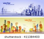 abstract city landscape    Shutterstock .eps vector #411384403