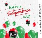 libya independence day... | Shutterstock .eps vector #411384820