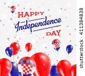 croatia independence day... | Shutterstock .eps vector #411384838