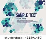 creative colorful triangle and... | Shutterstock .eps vector #411391450