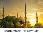 detail of the sultanahmet... | Shutterstock . vector #411394039