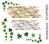 set of ivy and brick   vector... | Shutterstock .eps vector #411395803